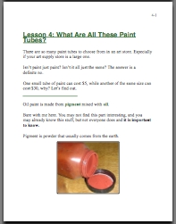 oil painting supplies manual pic 3